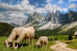 Le Dolomiti durante la bella stagione
